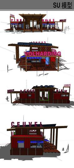 集装箱改造休闲餐厅建筑