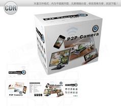 白色简约网络摄像机包装设计