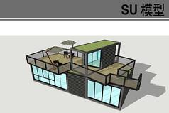 集装箱餐厅模型