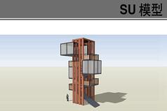 高层集装箱瞭望台模型