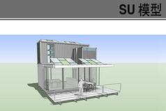 多层集装箱餐厅模型