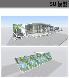 现代感十足集装箱建筑