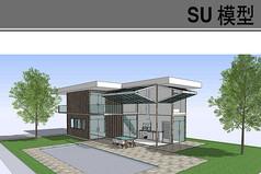 现代集装箱高档住宅模型