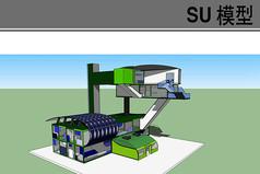 现代集装箱生产车间模型