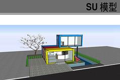 集装箱工作室建筑模型