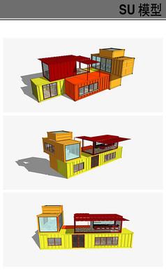 办公建筑集装箱模型
