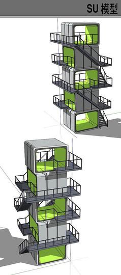 集装箱改造阶梯建筑