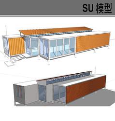 集装箱改造简约建筑