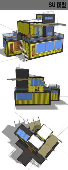 集装箱改造建筑模型