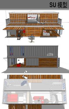 集装箱改造别墅模型