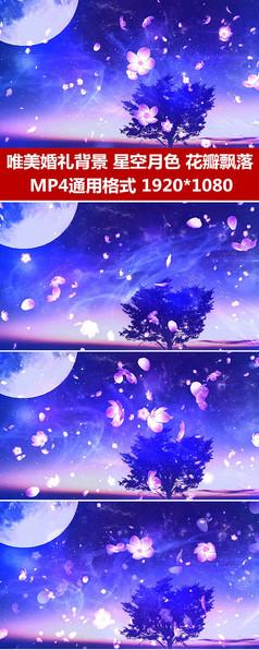 花瓣飘落婚礼背景视频素材