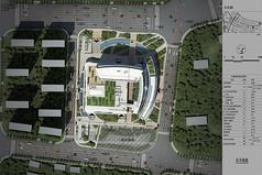 建筑绿化景观俯视效果图