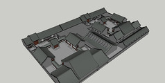 中式四合院SU模型