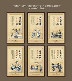 古典中式砂锅文化装饰画