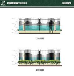 15M景墙围栏立面设计