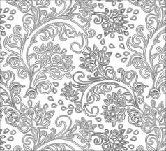 双线铁花雕刻图案