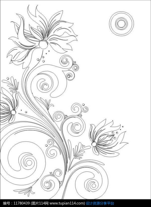富贵花雕刻图案设计素材免费下载_雕刻图案cdr_图片114