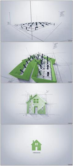 科技感建筑公司企業標志模版