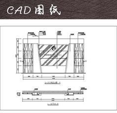 公司标志墙立面CAD