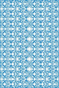 古典卷花纹腰花雕刻图案