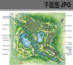 农村规划设计总平面图