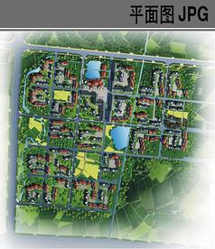 新农村规划总平面图
