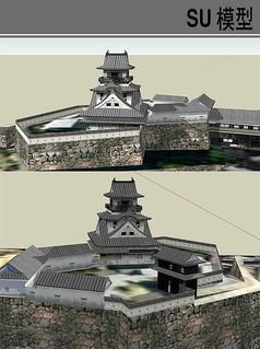 日本古典建筑模型