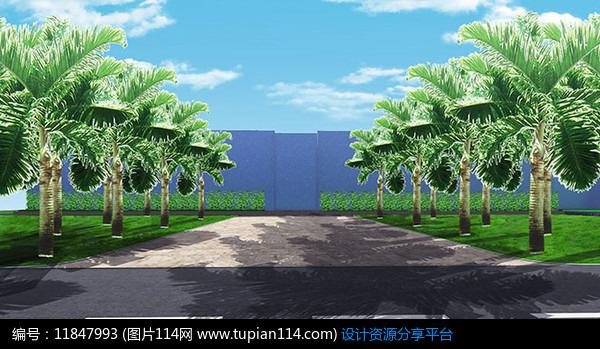 [原创] 办公楼绿化效果图