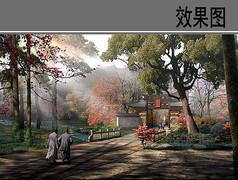 园林古典大门景观