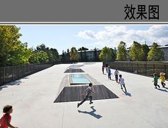 幼儿园二层活动空间透视效果