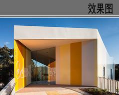 幼儿园建筑入口效果图
