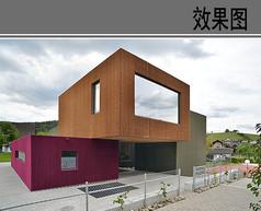 幼儿园建筑设计透视图