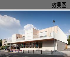 幼儿园建筑设计侧面透视图