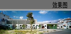 幼儿园建筑设计局部透视效果