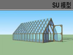 尖顶温室大棚模型