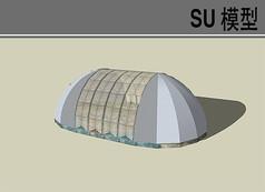简单的圆拱形温室大棚