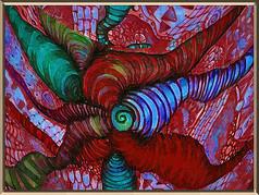 抽象线条油画