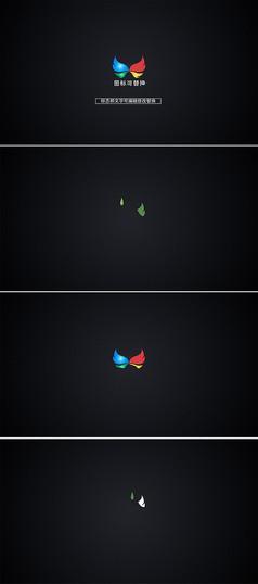 水滴滴落形成logo标志模板