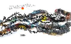 中式抽象高清背景墙装饰画