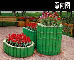 竹子状花池