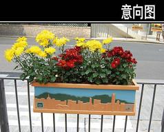 长方形小型花池