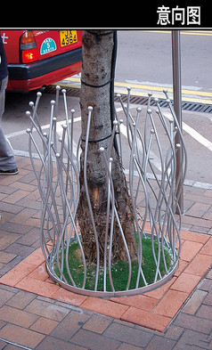 铁质曲型护木