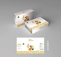 黄桃包装盒礼盒设计