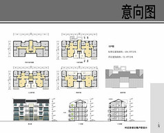 村庄多层公寓户型设计