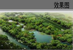 教育园区一期湿地景观带效果图