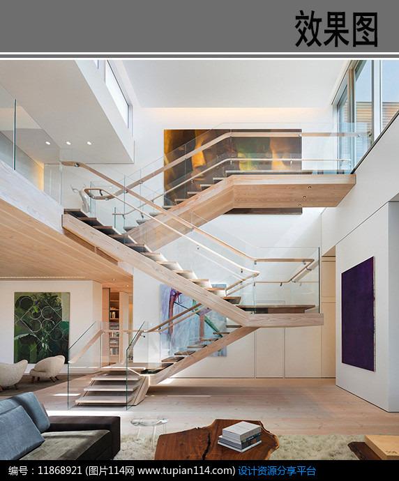 [原创] 复式房楼梯设计效果图图片