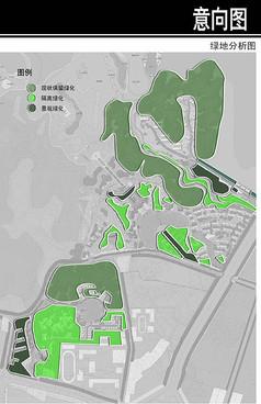 某科技园水系景观结构图