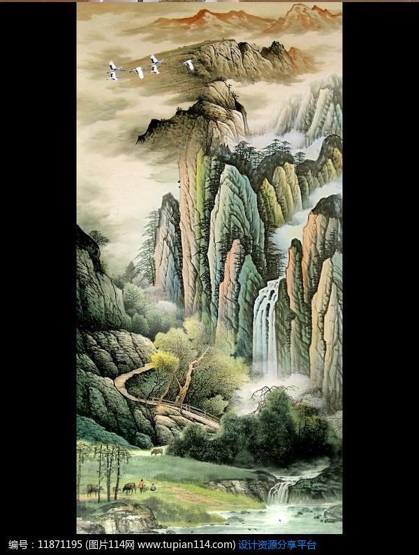[原创] 古代国画风景画玄关