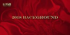 红色鎏金背景板