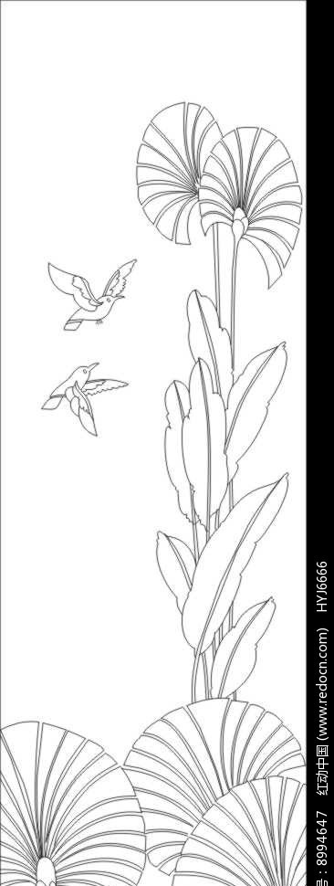 鸟语花香雕刻图案